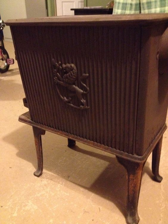 Antique Vintage Jotul Wood Burning Stove Cast Iron Norway