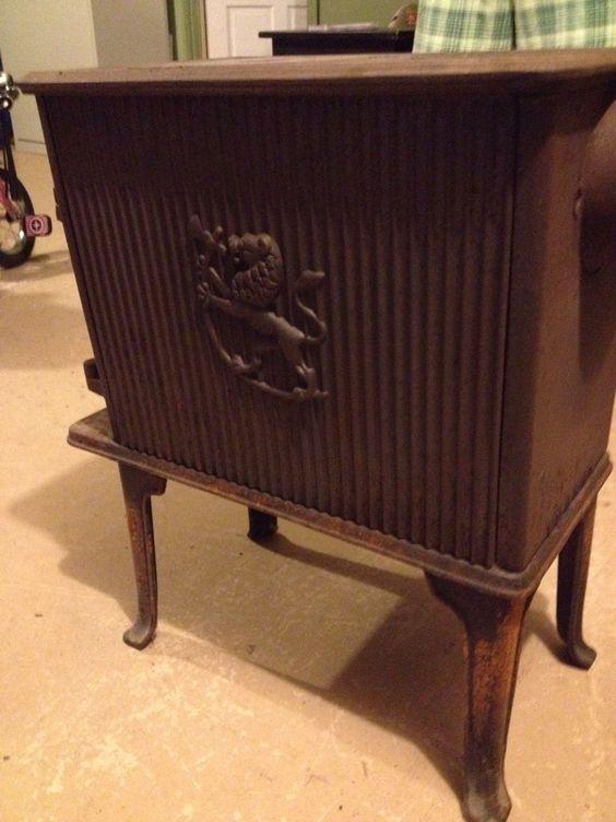 Antique Vintage Jotul Wood Burning Stove Cast Iron Norway