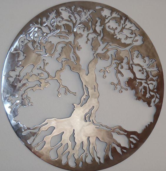 Árbol de la vida arte del Metal decoración de la pared