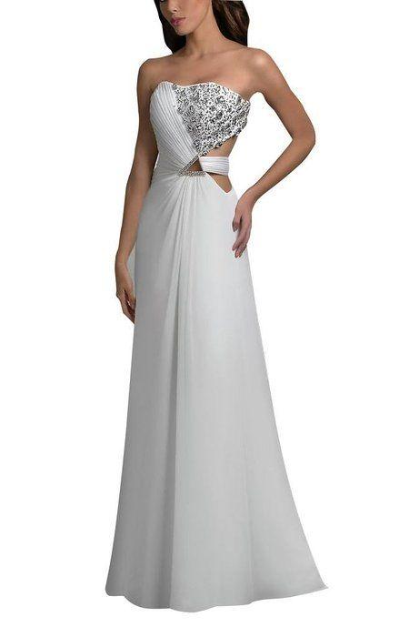 GEORGE BRIDE Weiss formale elegante Abendkleid ,Groesse 36,Weiss