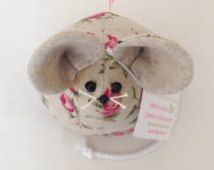 Rose! Cute Mouse Paperweight, Fabric Ornament, Personalised Gift, Novelty Gift