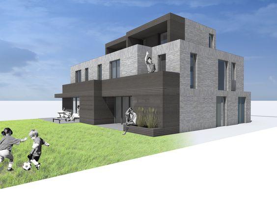Schetsen van de binnenkant buitenkant van een gebouw zoals het gebouwd zou kunnen worden - Ontwerp buitenkant ontwerp ...