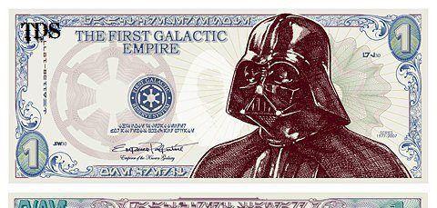 Darth Vader em nota?Pois eu achei muito interessante!Uma das páginas mais divertidas do Facebook se chama The Dark Side of the Force .