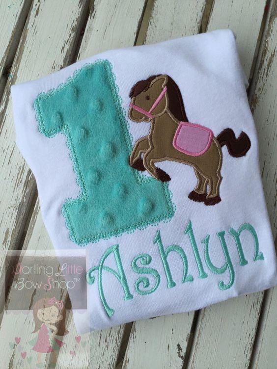 Pony Birthday Bodysuit or Shirt  Pretty by DarlingLittleBowShop