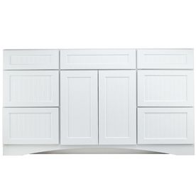 kraftmaid cottage 60 in x 18 7 8 in white casual bathroom