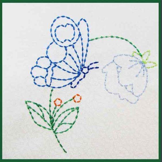 Схемы японской вышивки сашико