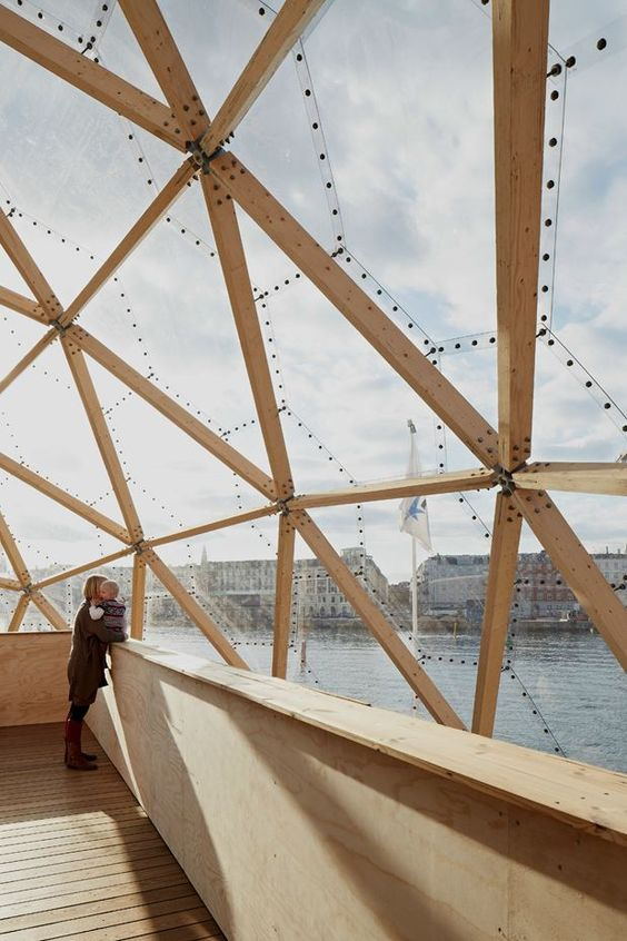 ❧ Beautiful timberframed dome in Copenhagen: