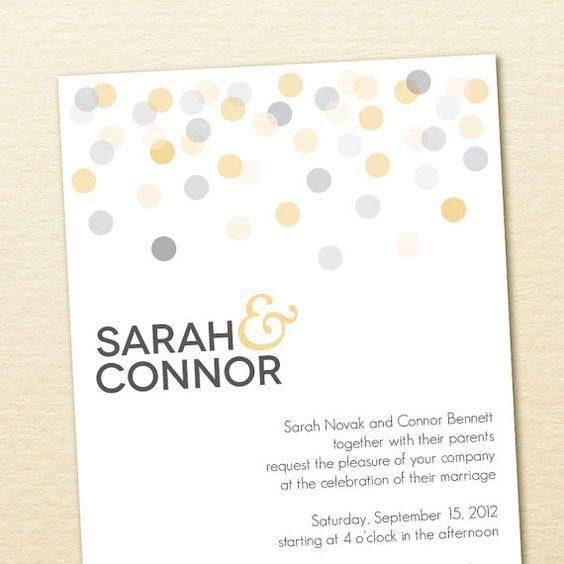 por soltera diseo de la invitacin confeti invitan de boda imprimibles conjuntos de invitacin de la boda diseo