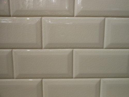X Beveled Crackled Subway Tile Adex Hampton Bonebiscuit - Bone colored subway tile