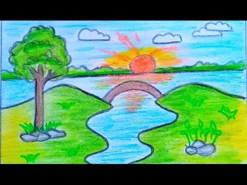 رسم منظر طبيعي سهل بالرصاص خطوة بخطوة للمبتدئين رسومات جميلة وسهلة Youtube Grinch
