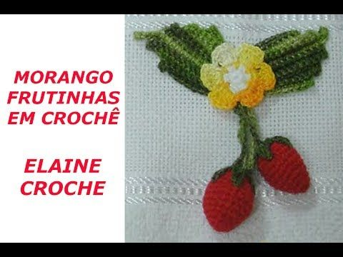Passo A Passo Frutinhas De Croche Mega Morango 3d Por Jny Croche