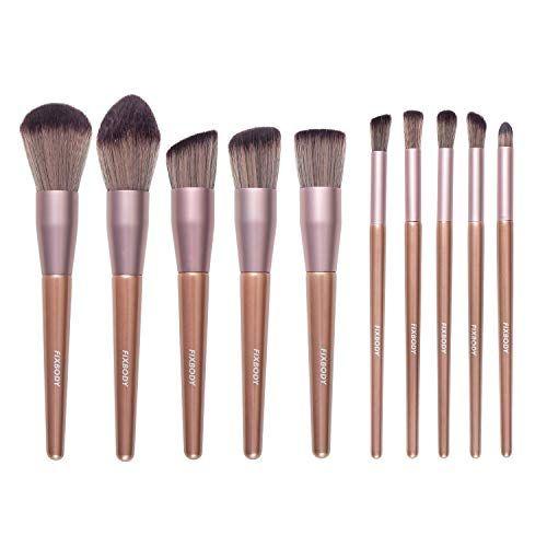 Fixbody Makeup Brush Sets 10 Pcs Wood Handle Best Makeup Brushes Makeup Brush Set Makeup Brush Set Best