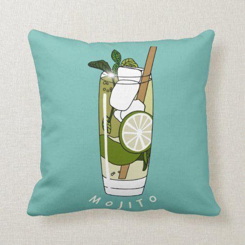 Mojito Cocktail Home Bar Gift Cushion Zazzle Com In 2021 Bar Gifts Mojito Cocktail Mojito