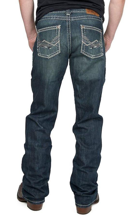 50% off retail! WRANGLER ROCK 47 MWR47GT Mens Jeans Western SLIM Fit Bootcut 32 W X 36 L NWT #WRANGLER #SLIM