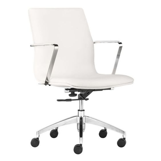 Zuo Modern Herald Low Back Office Chair White - 206151
