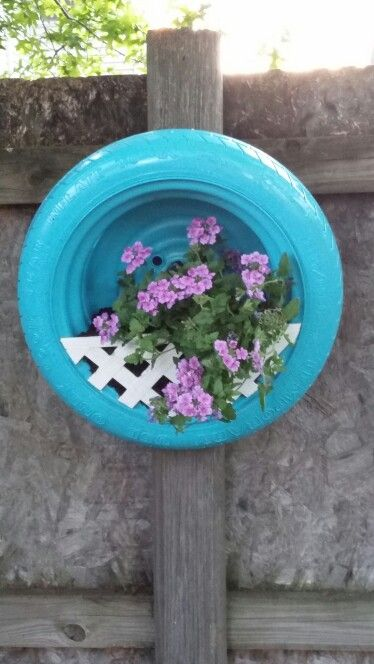 Tire flower pot: