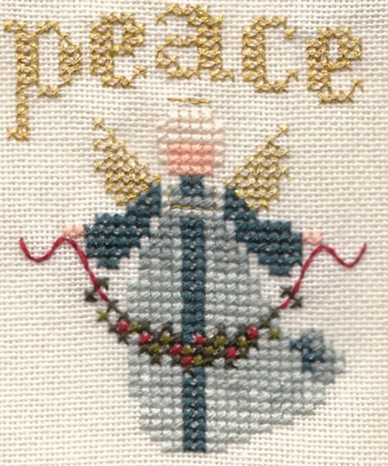 Lavender and Lace1986 free angel - Counted Cross Stitch