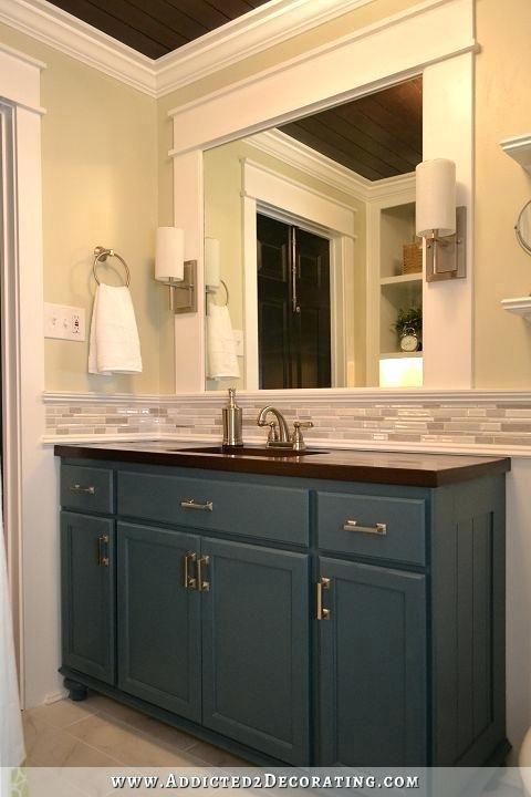 Bathroom Vanity Backsplash Ideas Hallway Bathroom Remodel Before
