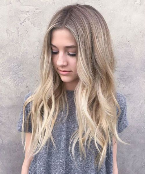 New Brilliant Long Wavy Hairstyles 2019 For Teenage Girls Messy Hairstyle Hair Styles Teenage Hairstyles Long Hair Styles