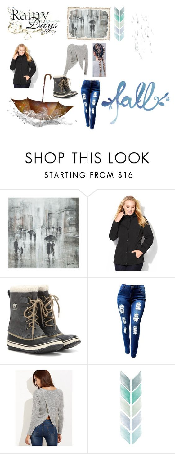 """""""Rainy days"""" by elin-17 ❤ liked on Polyvore featuring Leftbank Art, Avenue and SOREL"""