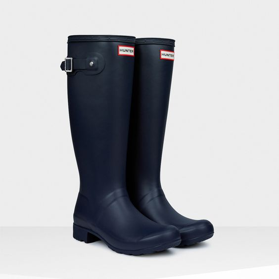 Original Packable Tour Rain Boots | Hunter Boot Ltd I seriously need this specific pair!! $148