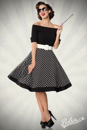 Chic Shoulder Free Swing Dress, Rockabilly 50er Look Size M Clothing from top store