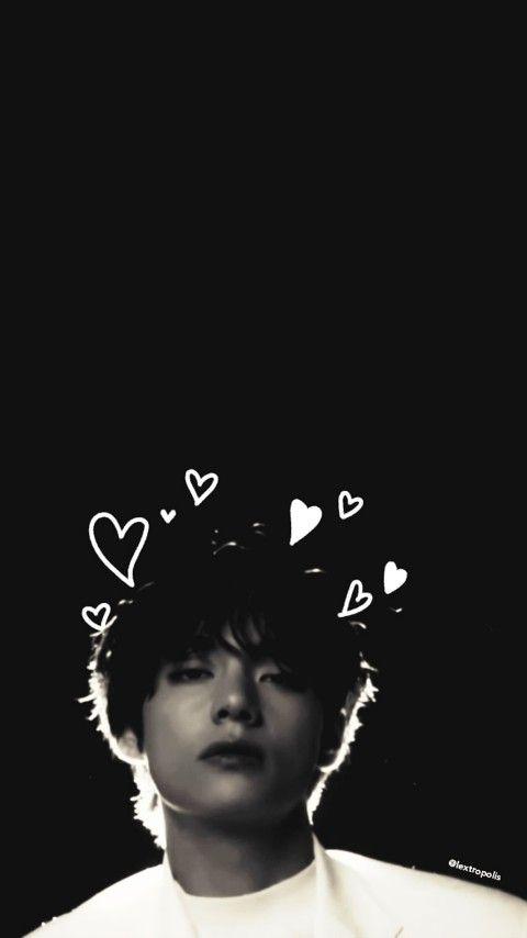 Taehyung Black Hearts Aesthetic Wallpaper Lextropolis Seniman Foto Kekasih Gambar Wajah