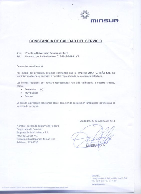 CLÍNICA TEZZA CONSTANCIAS DE CALIDAD DE SERVICIO CLIENTES - heartfelt resignation letter