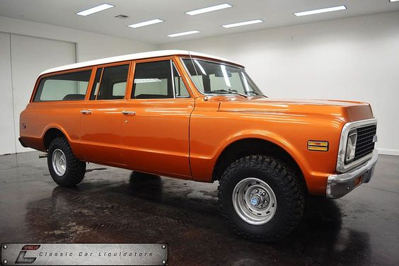 1972 chevrolet suburban 4x4 for sale at classic car liquidators is listed at 12 check. Black Bedroom Furniture Sets. Home Design Ideas