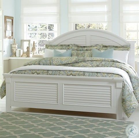 Summer House Oyster White Queen Panel Bed Liberty Furniture Furniture Panel Bed