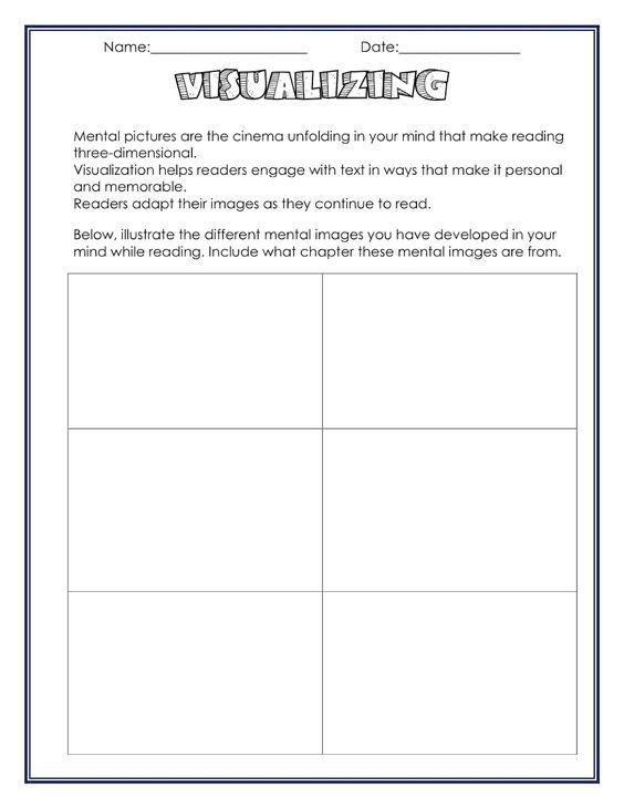 neat visualizing worksheet | ideas for school | Pinterest ...