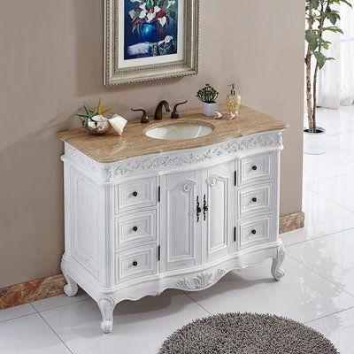 Astoria Grand Haslett 48 Single Bathroom Vanity Wayfair Single Bathroom Vanity Bathroom Vanity Bathroom Vanity Tops