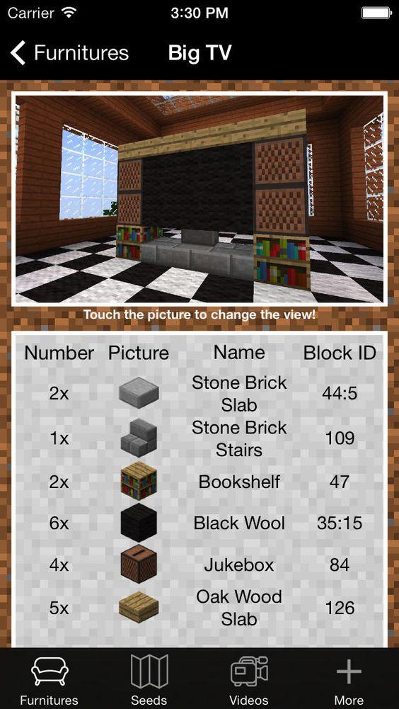 Minecraft Tvs And Minecraft Structures On Pinterest
