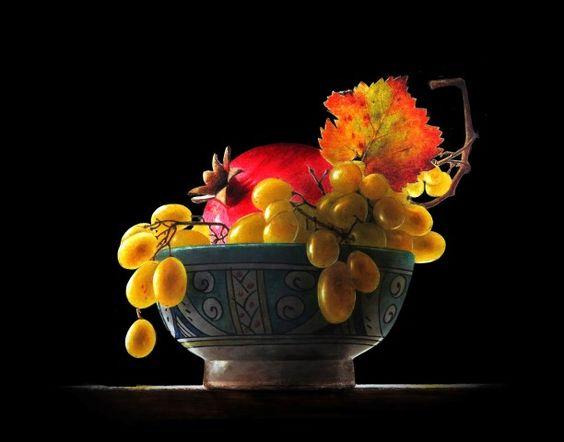 Ottorino De Lucchi. Watercolor Drybrush: