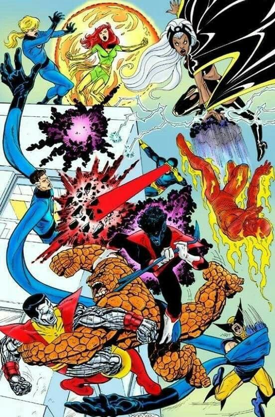 X Men Vs Fantastic Four Art By John Byrne Marvel And Dc Superheroes Superhero Images Marvel Art