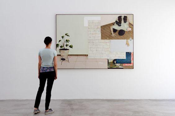 Bruno Kurru   Organização de(i) área(i)a/ mente  2011  acrílica e resina sobre tela  215 x 152 cm