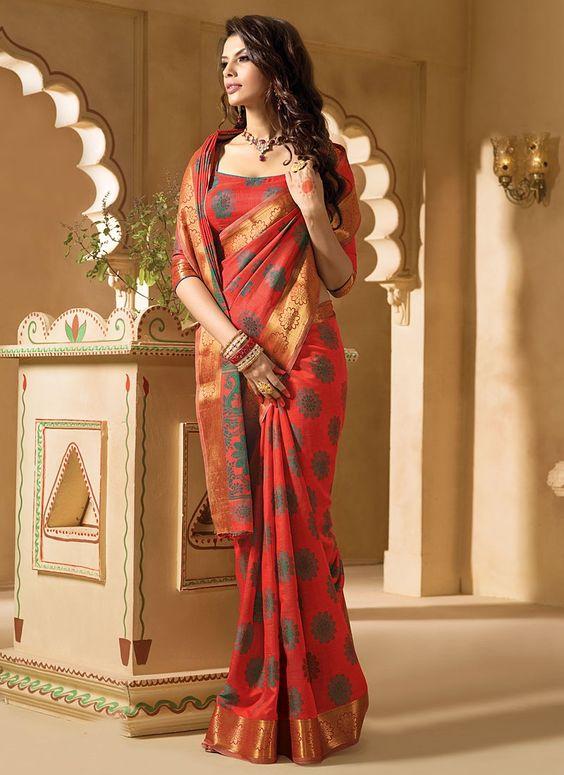 Buy online pure kanchipuram silk sarees at best in India ...