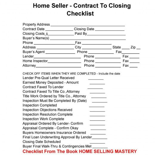 Contract To Close Checklist Real Estate Google Search Realestateselling Real Estate Selling Real Estate Checklist Real Estate Contract Real Estate Buyers