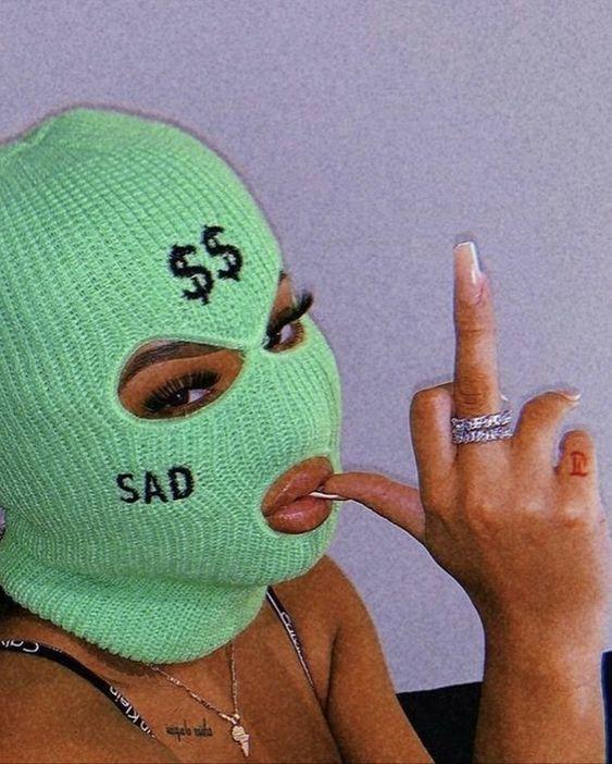 Green Baddie Ski Mask For Halloween Mask Girl Mask Ski Mask