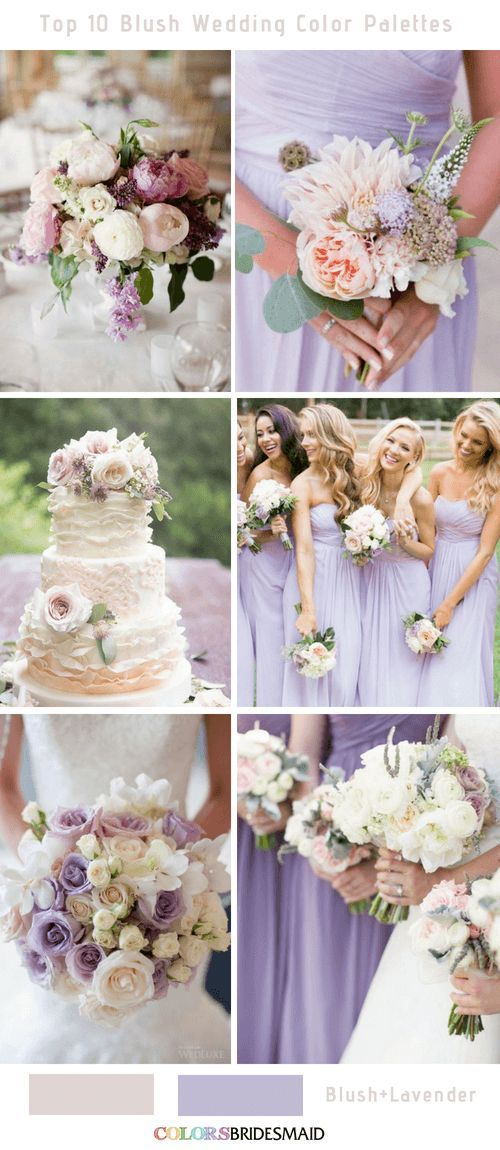 Top 10 Blush Wedding Color Palettes For Your Inspiration Lavender Wedding Colors Blush Wedding Colors Lavender Wedding Theme