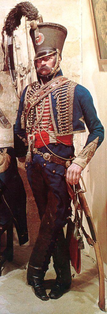 Officier, tenue de campagne, 5e Hussards, 1806