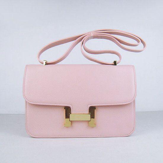 Hermes Handbags,Hermes Constance Togo Leather Single Bag Pink Gold ...