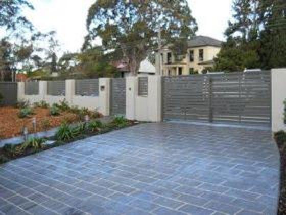 Masonry wall privacy screens and driveways on pinterest