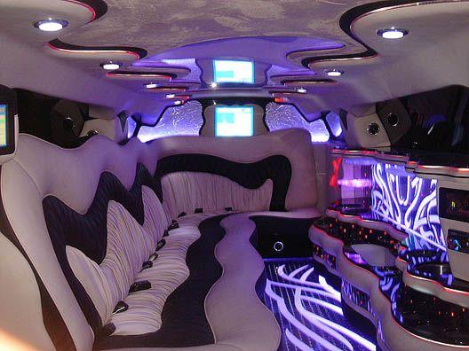 white chrysler interior