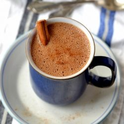 Spiced Chocolate Chaga Elixir. A cozy, power-packed drink for chilly days.