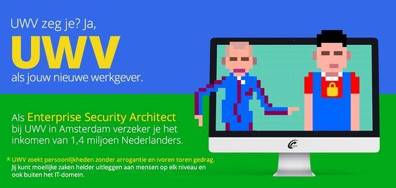 Waar anders kun je het inkomen verzekeren van 1,4 miljoen Nederlanders bij wie het even tegenzit? Nou? Bij het UWV natuurlijk. https://www.epeople.nl/web/enterprise-architect-security-uwv-amsterdam/