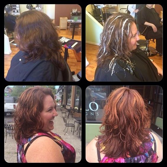 Balayage underneath red lightens glows from within. Hair Cut Colored \u0026  Styled By Jaymie Granger