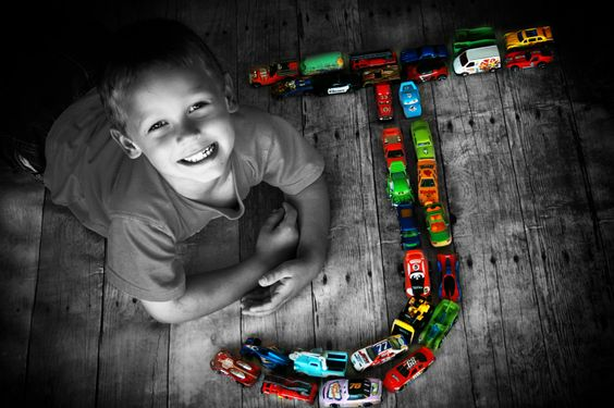 Cute idea with cars ... do ALL in color
