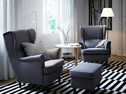 IKEA Fan Favorite: STRANDMON Wing Chair. Cute And Comfy! The High Back On