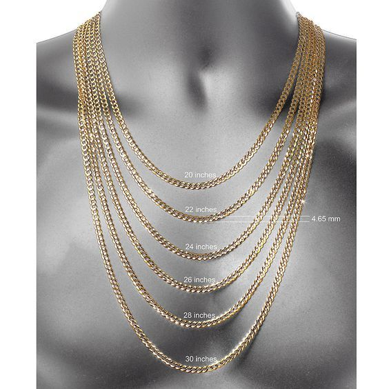 Made In Italy 10k Gold 24 Inch Chain Necklace Gold Chains For Men Chain Necklace Gold Rope Chains